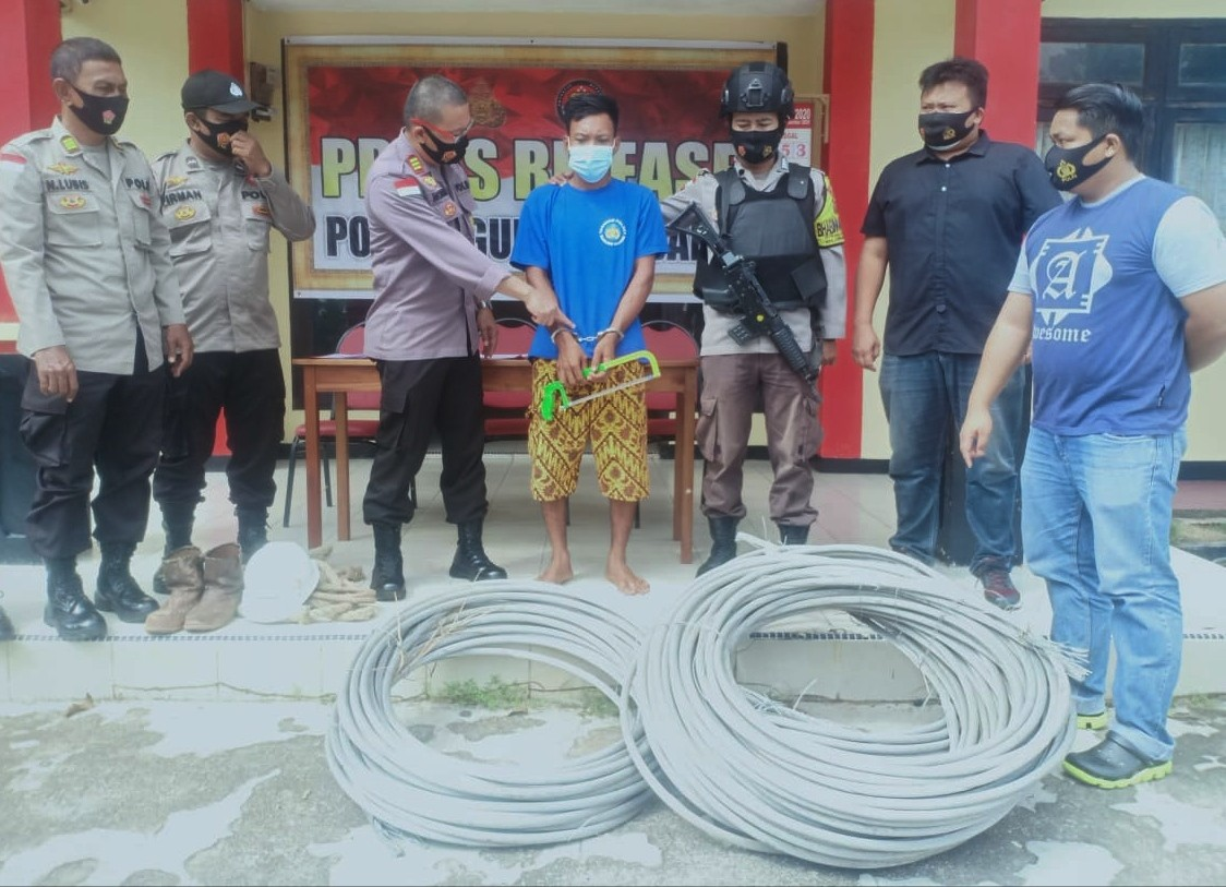 Polsek Gunung Kijang Amankan 2 Pencuri Kabel PLN