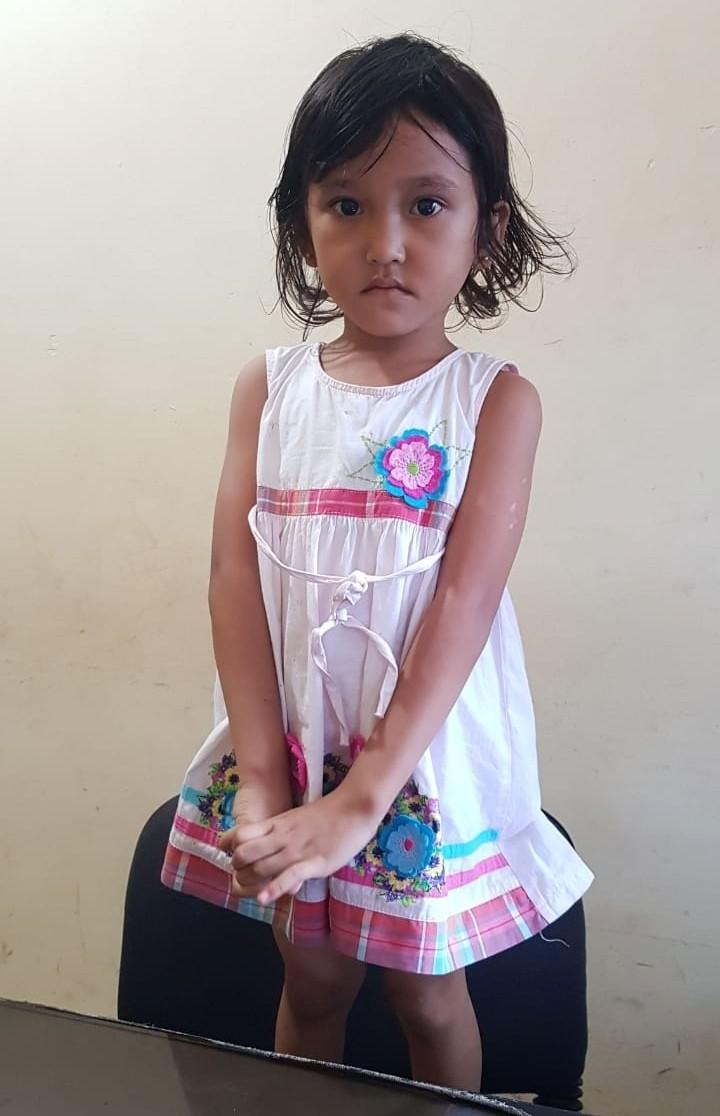 Seorang Anak 3 Tahun Perempuan Ditemukan Warga