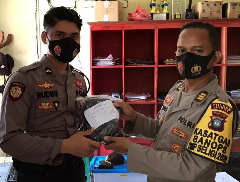 Bagsumda Polres Lingga Bagikan Masker kepada Personil, ASN dan PHL