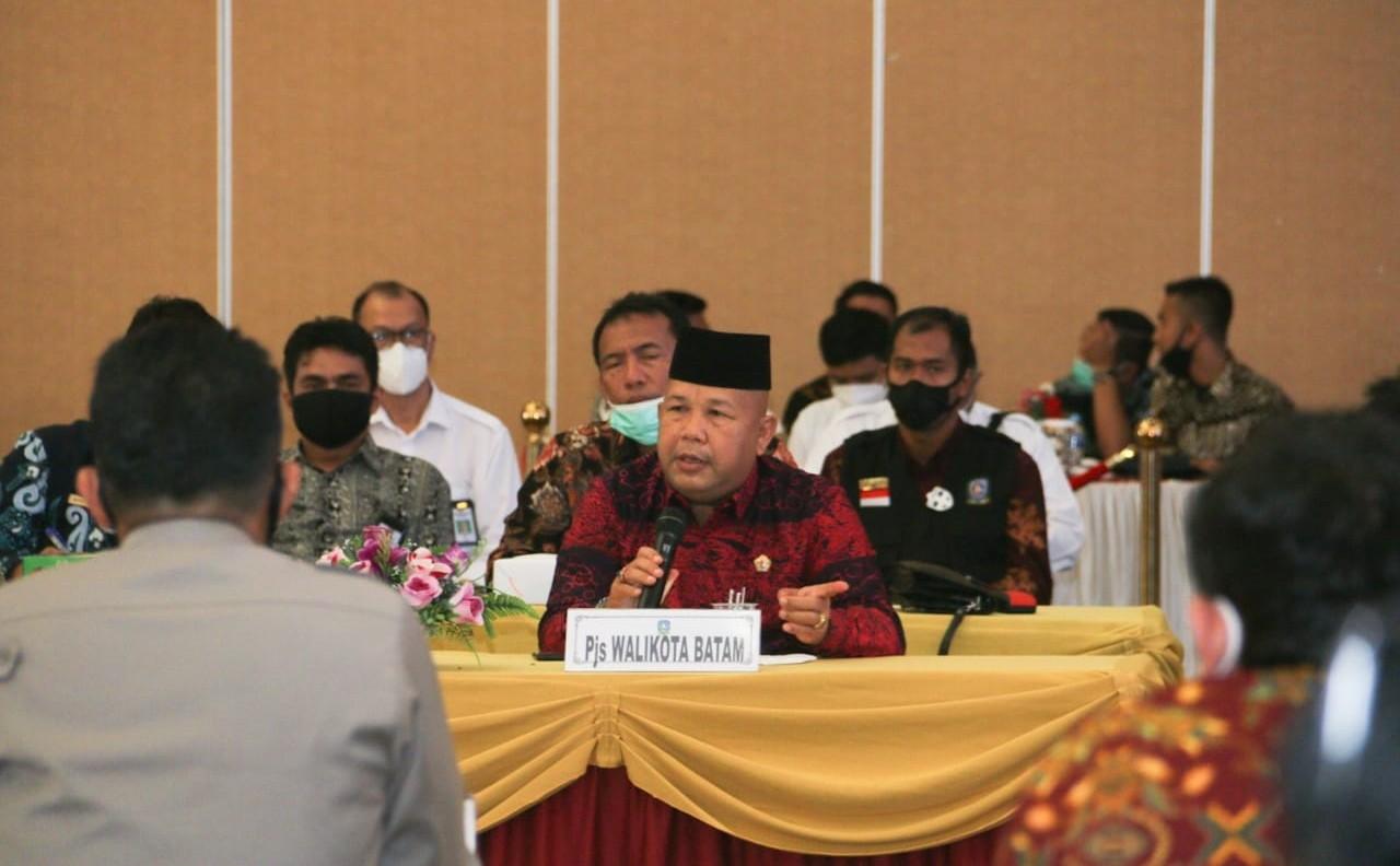 Syamsul Hadiri Rakor Pembahasan Pembangunan Jembatan Batam-Bintan