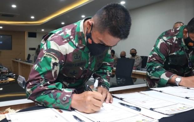 Danrem 033 WP Ikuti Rakor Jelang PAM Hari Raya Idulfitri di Masa Pandemi, Panglima TNI: Ada Dua Peran Utama Tentara