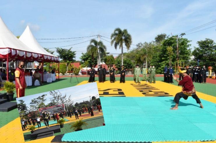 Polres Tanjungpinang Gelar Kejuaraan Pencak Silat Binaan TNI-Polri dan Olahraga Bersama