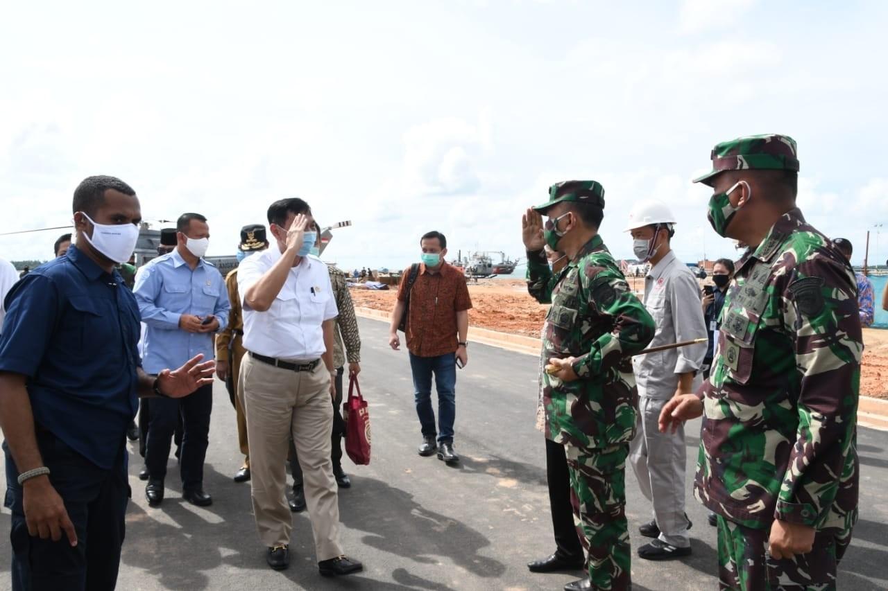 Danrem 033/WP Dampingi Menko Kemaritiman dan Investasi RI, Saat Kunker ke Bintan