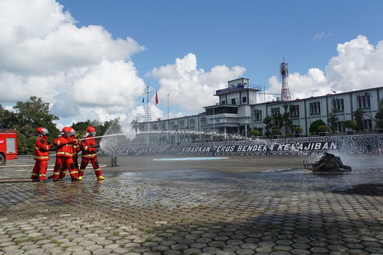 Lantamal IV, Gelar Latihan Hanlan dan Bahaya Kebakaran