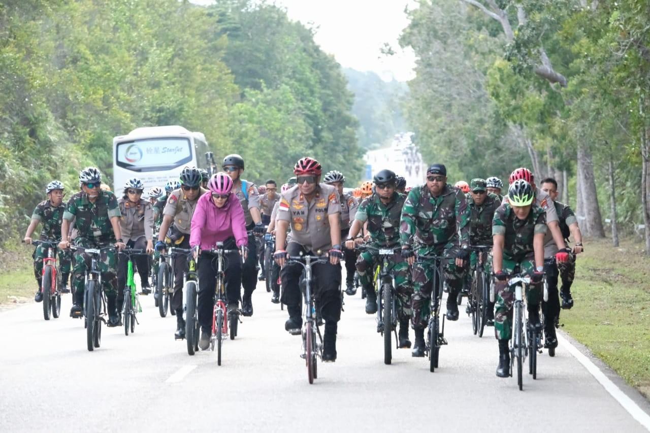 Gelar Gowes Sinergitas, TNI Polri dan Masyarakat Bersepeda Bersama