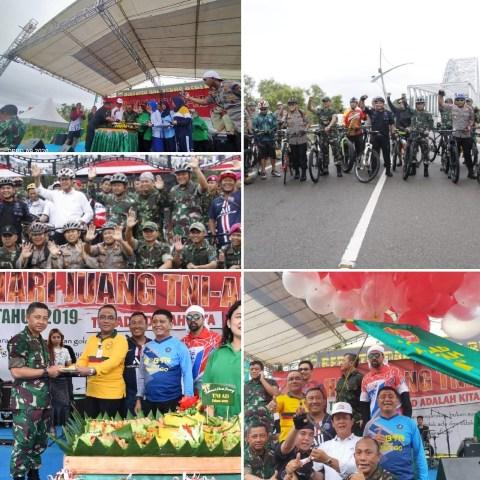 Jalan Santai dan Baksos Warnai Hari Juang TNI AD di Tanjungpinang