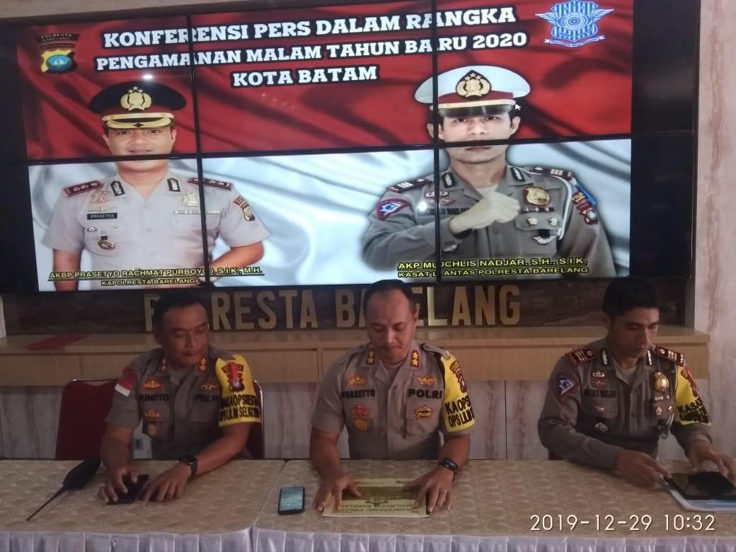 1.228 Personel Kepolisian Siagakan Jelang Pengamanan Malam Pergantian Tahun 2020 di Kota Batam