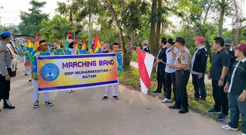 Marching Band Meriahkan Hari Jadi Kampung Anti Narkoba ke-1 Tahun