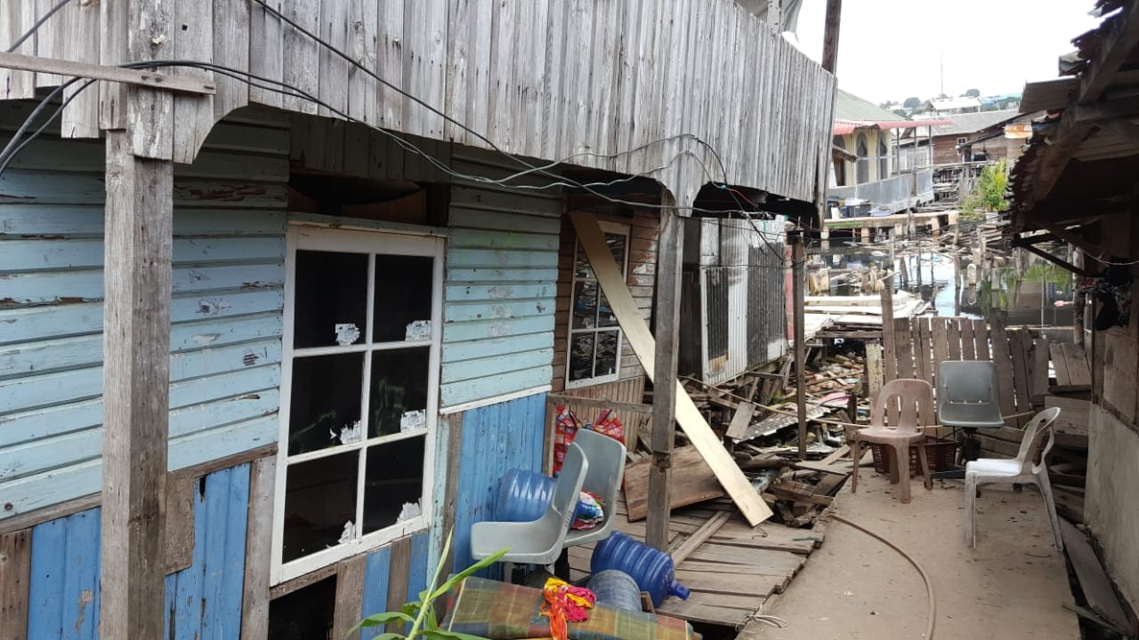 Tanah Ambles di Pasar Induk Batam, 60 Rumah Rusak