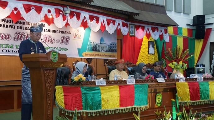 Peringati Hari Jadi ke 18 Otonom Tanjungpinang, Walikota Paparkan Capaian Kinerja