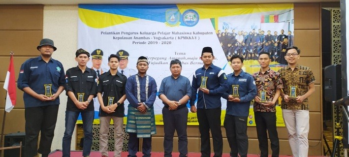 Wakil Bupati Anambas Lantik Pengurus Pelajar Mahasiswa di Yogyakarta